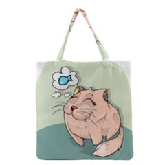Cat Animal Fish Thinking Cute Pet Grocery Tote Bag