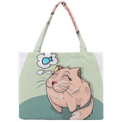 Cat Animal Fish Thinking Cute Pet Mini Tote Bag