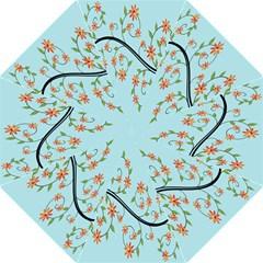 Branch Floral Flourish Flower Straight Umbrellas