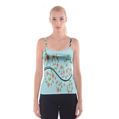 Branch Floral Flourish Flower Spaghetti Strap Top
