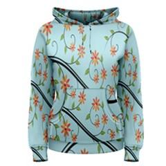 Branch Floral Flourish Flower Women s Pullover Hoodie