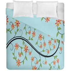 Branch Floral Flourish Flower Duvet Cover Double Side (california King Size)