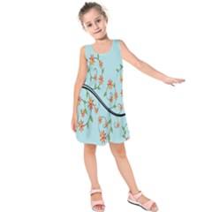 Branch Floral Flourish Flower Kids  Sleeveless Dress