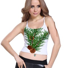 Branch Floral Green Nature Pine Spaghetti Strap Bra Top