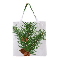 Branch Floral Green Nature Pine Grocery Tote Bag