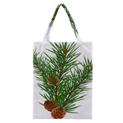Branch Floral Green Nature Pine Classic Tote Bag
