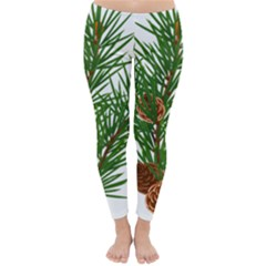 Branch Floral Green Nature Pine Classic Winter Leggings