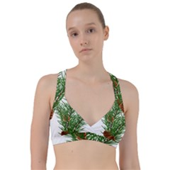 Branch Floral Green Nature Pine Sweetheart Sports Bra