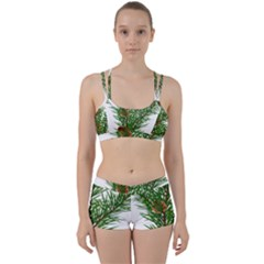 Branch Floral Green Nature Pine Women s Sports Set