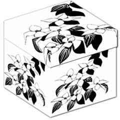 Ecological Floral Flowers Leaf Storage Stool 12