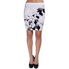 Ecological Floral Flowers Leaf Bodycon Skirt