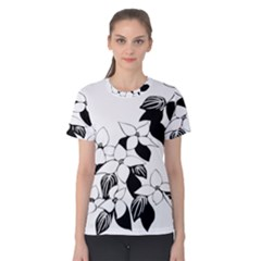 Ecological Floral Flowers Leaf Women s Cotton Tee