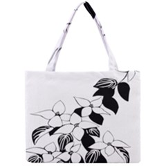 Ecological Floral Flowers Leaf Mini Tote Bag