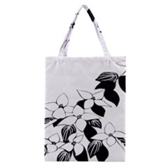 Ecological Floral Flowers Leaf Classic Tote Bag