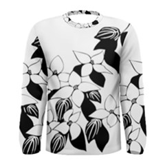 Ecological Floral Flowers Leaf Men s Long Sleeve Tee