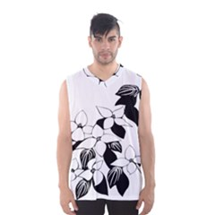 Ecological Floral Flowers Leaf Men s Basketball Tank Top