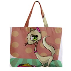 Cat Food Eating Breakfast Gourmet Mini Tote Bag