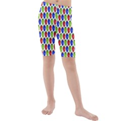 Colorful Shiny Eat Edible Food Kids  Mid Length Swim Shorts
