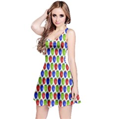 Colorful Shiny Eat Edible Food Reversible Sleeveless Dress