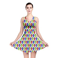 Colorful Shiny Eat Edible Food Reversible Skater Dress