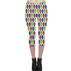 Colorful Shiny Eat Edible Food Capri Leggings