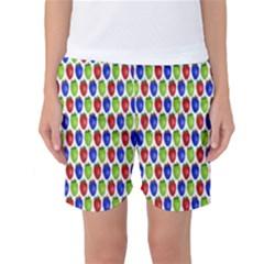 Colorful Shiny Eat Edible Food Women s Basketball Shorts