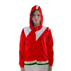 Fruit Harvest Slice Summer Hooded Wind Breaker (women)