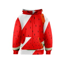 Fruit Harvest Slice Summer Kids  Zipper Hoodie