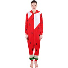 Fruit Harvest Slice Summer Hooded Jumpsuit (ladies)