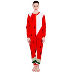 Fruit Harvest Slice Summer Onepiece Jumpsuit (ladies)