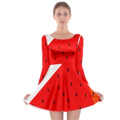 Fruit Harvest Slice Summer Long Sleeve Skater Dress