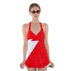 Fruit Harvest Slice Summer Halter Swimsuit Dress