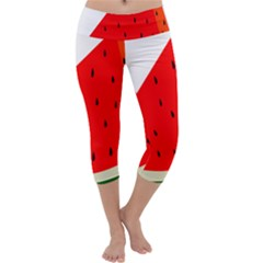 Fruit Harvest Slice Summer Capri Yoga Leggings