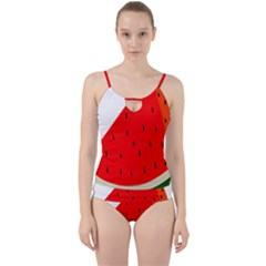 Fruit Harvest Slice Summer Cut Out Top Tankini Set