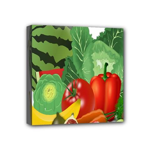 Fruits Vegetables Artichoke Banana Mini Canvas 4  X 4