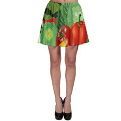 Fruits Vegetables Artichoke Banana Skater Skirt