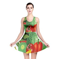 Fruits Vegetables Artichoke Banana Reversible Skater Dress