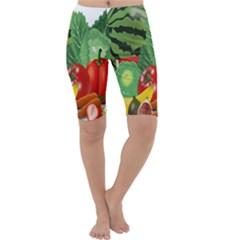Fruits Vegetables Artichoke Banana Cropped Leggings