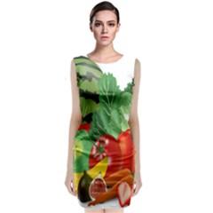Fruits Vegetables Artichoke Banana Classic Sleeveless Midi Dress