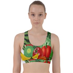 Fruits Vegetables Artichoke Banana Back Weave Sports Bra