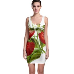 Food Fruit Leaf Leafy Leaves Bodycon Dress