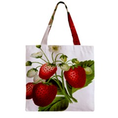 Food Fruit Leaf Leafy Leaves Zipper Grocery Tote Bag