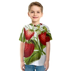 Food Fruit Leaf Leafy Leaves Kids  Sport Mesh Tee