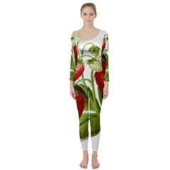 Food Fruit Leaf Leafy Leaves Long Sleeve Catsuit