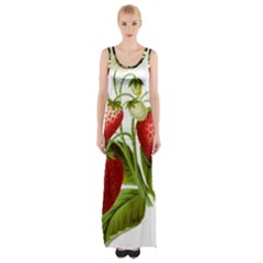 Food Fruit Leaf Leafy Leaves Maxi Thigh Split Dress