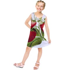 Food Fruit Leaf Leafy Leaves Kids  Tunic Dress