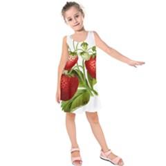 Food Fruit Leaf Leafy Leaves Kids  Sleeveless Dress