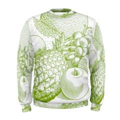 Fruits Vintage Food Healthy Retro Men s Sweatshirt