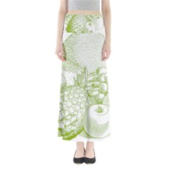 Fruits Vintage Food Healthy Retro Full Length Maxi Skirt