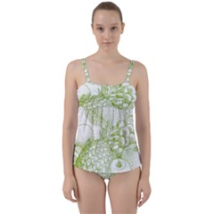 Fruits Vintage Food Healthy Retro Twist Front Tankini Set